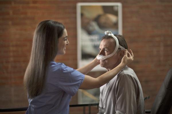 We assist in fitment of Apnea, CPAP, sleep mask equipment 2