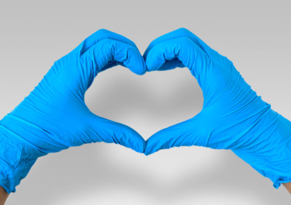 s, m, lg and xl blue nitrile protective medical gloves